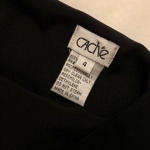 Cache Skirts - cache | black silk silver beaded skirt